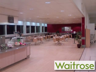 Waitrose cafe suspended ceiling electrics